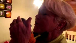 Our baby monkey Zoey reaction when Grandma comes h