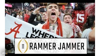 "Alabama fans go wild, sing ""Rammer Jammer"" after winning National Championship"
