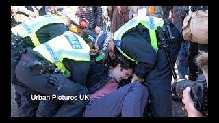 Young Man Defies Met Police As He Blocks Bridge In London