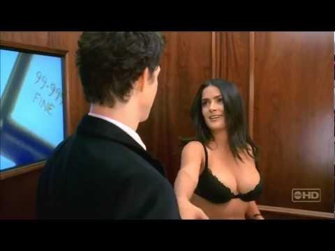 Salma Hayek - big boobs - ugly betty - in black bra HD video must see -