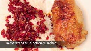 Burcus Bistro: Zereshk Polo (Reis mit Berberitzen und Safran Hühnchen)