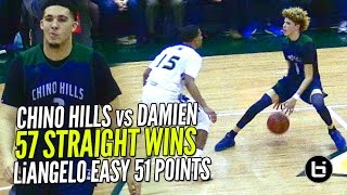 LiAngelo Ball 52 POINTS!! Chino Hills vs Damien Pt 2 FULL Highlights!!