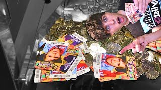 Willy Wonka Coin Pusher HUGE WIN!!