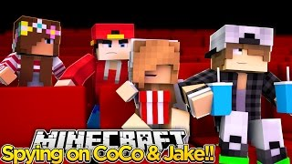 Minecraft Adventure - SPYING ON COCO & JAKE!!!