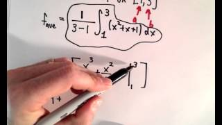 Average Value of a Function on an Interval Using Calculus