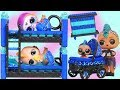 Download Lagu MP3 Lil Brother Slumber Party with LOL Surprise Custom Bunk Beds + Barbie