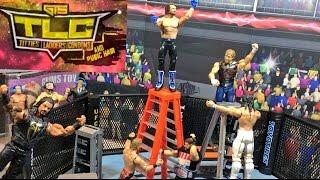 GTS WRESTLING: TLC UFC OCTAGON MATCH! WWE FIGURE PPV Animation Event!