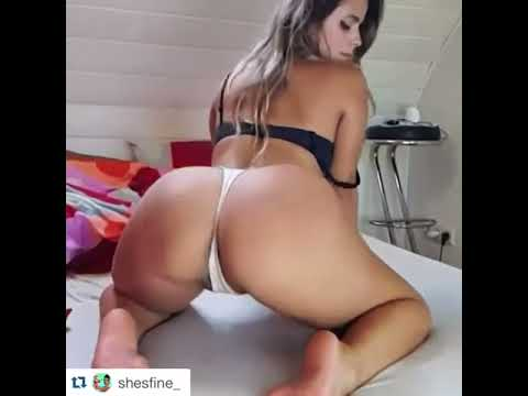 Thick white girl shaking that ass
