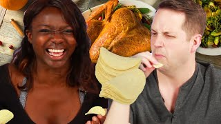 People Try Thanksgiving Meal Pringles