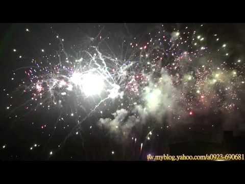 � �化古龍山玄天上帝遶境� �化市 拖板車煙火