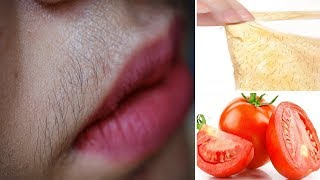 Permanent Facial Hair Removal With Tomato Peel Off Mask 100% Works