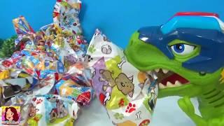 Abrindo brinquedos - Dinossauro ajuda a tia Cris - Policissauro Chomp Squad  #tiacris