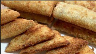 أسهل طريقة لعمل بورك عراقي [ من خبز التوست فقط ] Fried Stuffed White Bread