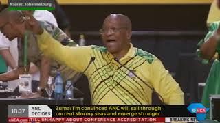 President Jacob Zuma sings 'Inde lendlela esiyihambayo' for the very last time