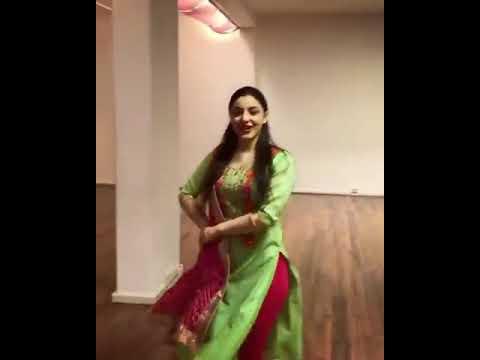 Cute Desi girl dancing on Bhangra