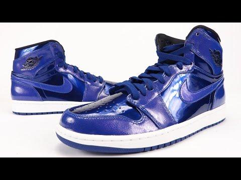 Air Jordan 1 High Deep Royal Blue Patent Leather Review On Feet