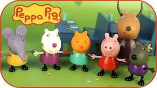 Свинка Пеппа знакомит со своими друзьями. Игрушечные истории для детей. Peppa Pig