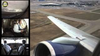 Azerbaijan Airlines B757 Takeoff Baku - Nakhchivan RB211 Engine view! [AirClips]