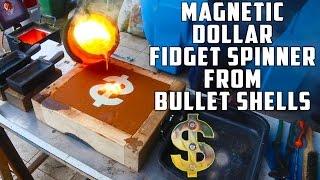 Casting Brass Dollar Fidget Spinner from Bullet Shells