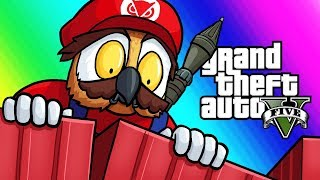 GTA5 Online Funny Moments - The Ultimate Clutch! (Mario VS RPG)