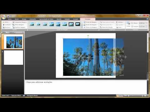 Como criar fazer um trabalho apresentação slide show no Power Point 2007 parte 1