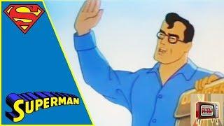 SUPERMAN I 1940s CARTOON | THE UNDERGROUND WORLD
