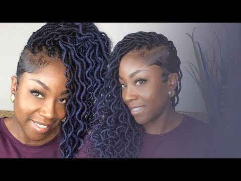 Xxx Mp4 How To Crochet Ombre Blue Wavy Faux Locs Tapered Sides 3gp Sex
