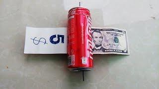 How to Make money Printer Machine Coca Cola  , Magic trick  Easy Way