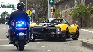 The Pagani Cinque Roadster is a Police Magnet