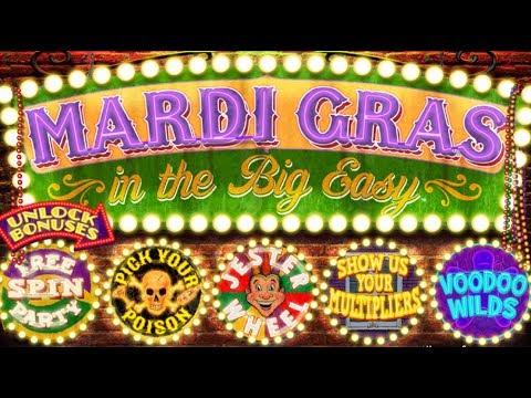 Mardi Gras Slot -  GREAT BONUS - All Features!