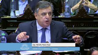 Mario Negri- Sesión en la HCDN por el desafuero a De Vido