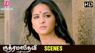 Rudhramadevi Tamil Movie | Scenes | Rana asks Anushka to marry him | Prakash Raj attacked