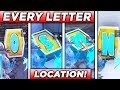 Search The Letter O,S,M,N ALL LOCATIONS FORTNITE! Pleasant Park, Wailing Woods, Dusty Divot, Lake!