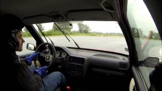 3.css Slovakia Ring 3.ostrá Peugeot 106 GTI - šmýkanica - Federal srs tyres