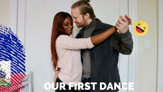 Teaching My Husband How To Dance Haitian Kompa For Our Wedding ||Following M&T