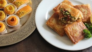 Spécial ramadan : Bricks au fromage et persil  & mini basboussa
