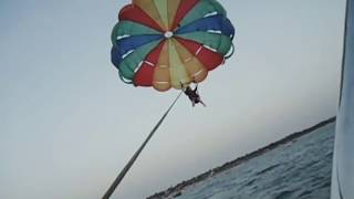 Live Accident: Accident during parasailing in Bagha Beach, Goa