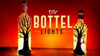 DIY Beautiful Bottle Lights for Christmas  | Easy To Make Bottle Lights - Craft Basket.