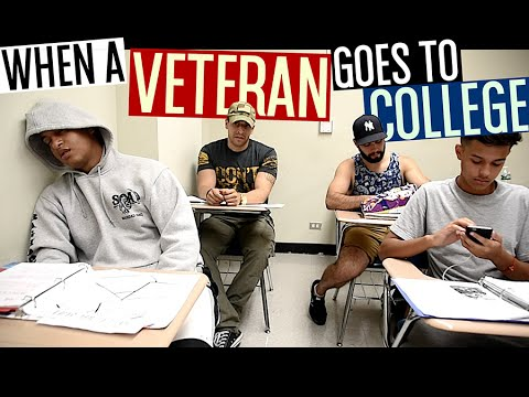 When A Veteran Goes To College!