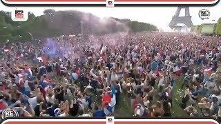 احتفالات اللاعبين والجمهور الفرنسي واشتباكات عنيفة بعد الفوز بكأس العالم