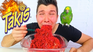Fire Takis Noodle Challenge • MUKBANG