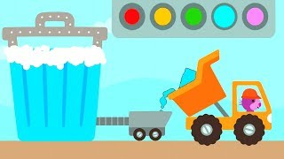 Sago Mini Trucks and Digger Build and Learn Colors for Children