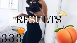 GAIN a Bigger Booty 100 Squats a Day for 30 Days Results + 333 Challenge complete