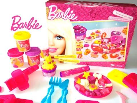 Barbie Doceria Divertida Massinhas e acessórios Barbie Make Cakes Desserts Playdough