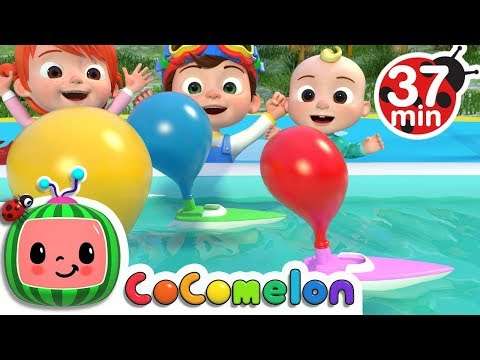 Balloon Boat Race | +More Nursery Rhymes & Kids Songs - Cocomelon (ABCkidTV)