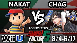 Smash Factor 6 Smash 4 - CLG | Nakat (Ness) Vs. HY | Chag (Bayonetta) Smash Wii U Losers 9ths