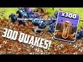 Clash of Clans - 300 EARTHQUAKE SPELLS! RIP Walls