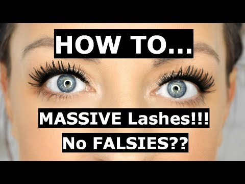 How I get HUGE lashes without using falsies Biggest lashes EVER