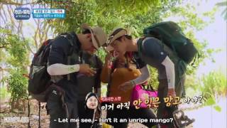 seo kang joon, jota and team find manggo in tonga | law of the jungle in Tonga
