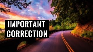 Important Correction | Mufti Menk
